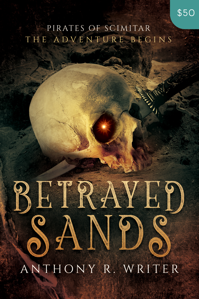 Premade Fantasy Book Cover Design: Betrayed Sands