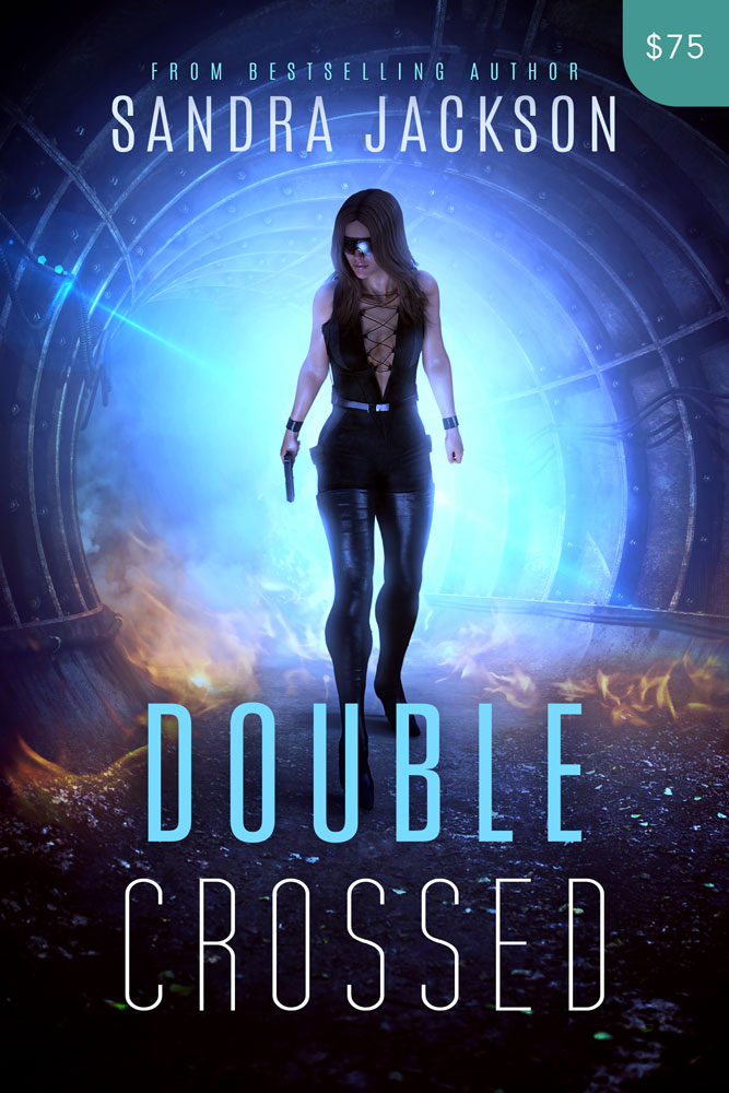 Premade Science Fiction / Action Book Cover Design: Double Crossed